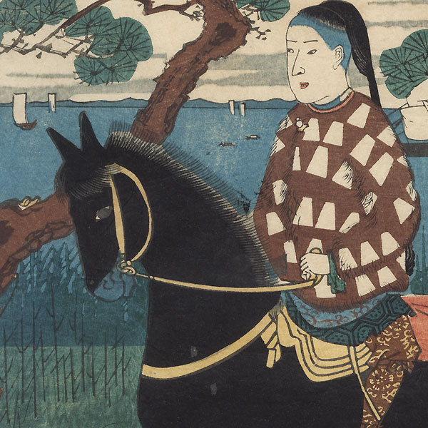 Chinese Man Riding a Horse, 1861 by Hiroshige II (1826 - 1869)