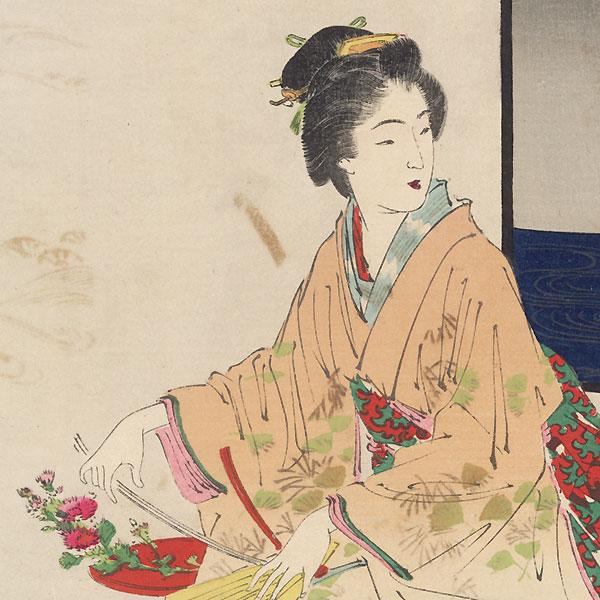 Folded Decorations (Orimono) by Gekko (1859 - 1920)