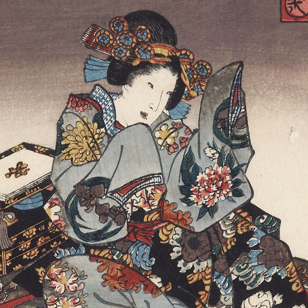 Nowaki, Chapter 28, 1852 by Toyokuni III/Kunisada (1786 - 1864)