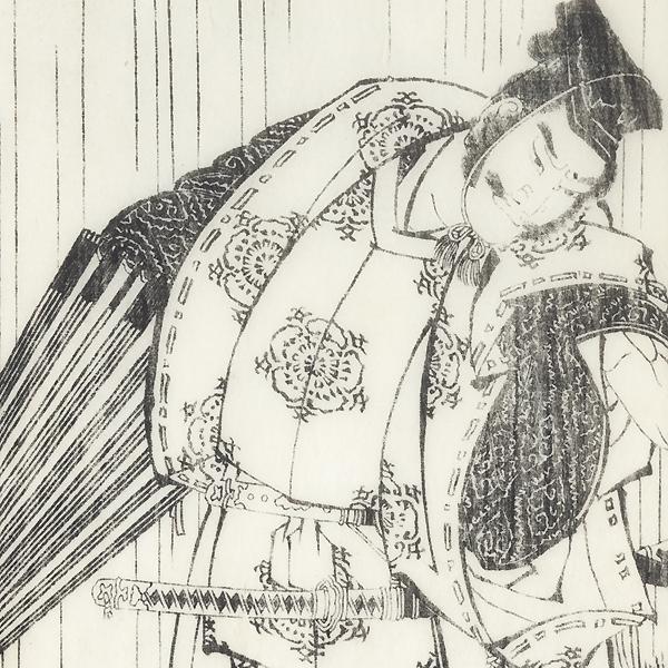 Taira no Tadamori and the Oil Thief by Hokusai (1760 - 1849)
