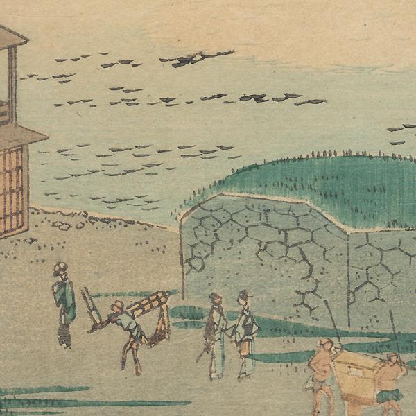 Autumn Moon at Takanawa, 1861 by Hiroshige II (1826 - 1869)