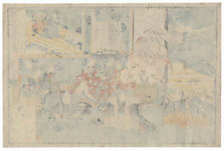 The 47 Ronin, Act 4: Lord Hangan's Suicide and Vacating the Mansion by Toyokuni III/Kunisada (1786 - 1864)