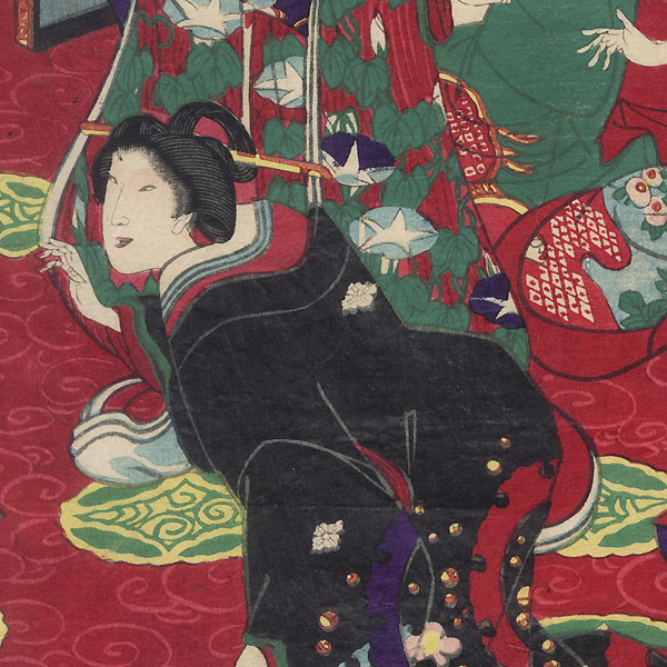 Beauties in a Palace by Chikanobu (1838 - 1912)