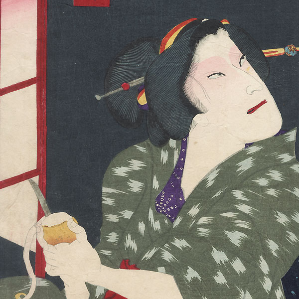 Couple in an Interior by Chikashige (active circa 1869 - 1882)