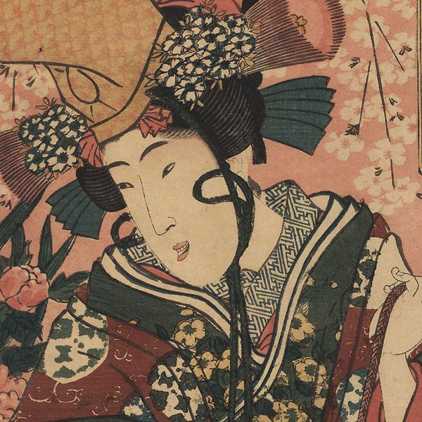 Shirabyoshi Dancer Kakemono by Toyokuni III/Kunisada (1786 - 1864)