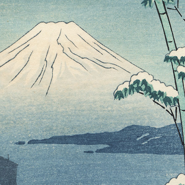 View of Mt. Fuji in Winter by Shin-hanga & Modern artist (unsigned)