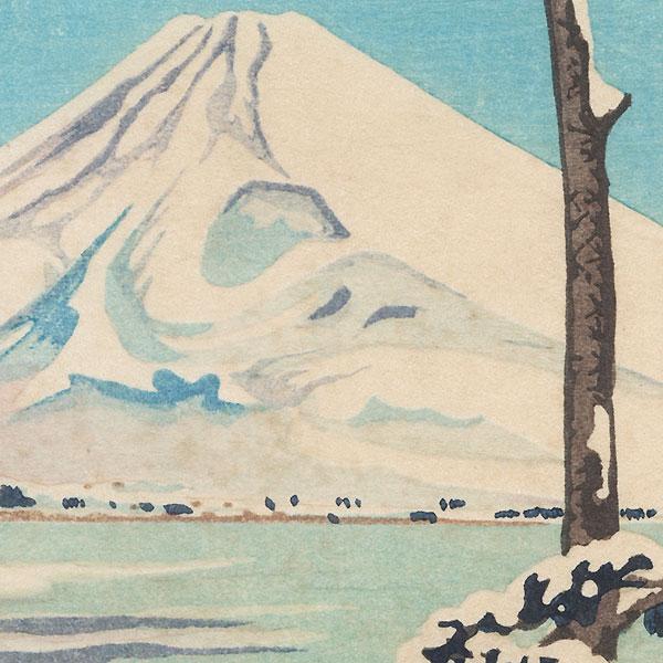 View of Mt. Fuji in Winter by Shin-hanga & Modern artist (unsigned)