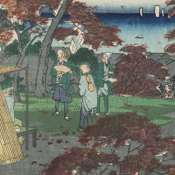 Kaian Temple by Hiroshige II (1826 - 1869)