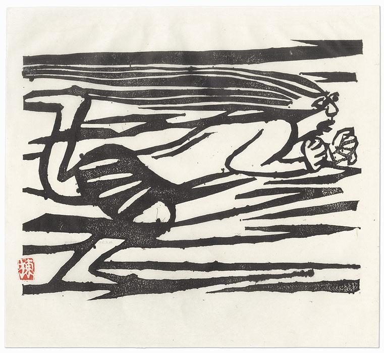 Wind God Fujin by Munakata (1903 - 1975)