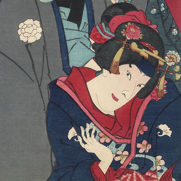 Angry Confrontation, 1874 by Kunichika (1835 - 1900)
