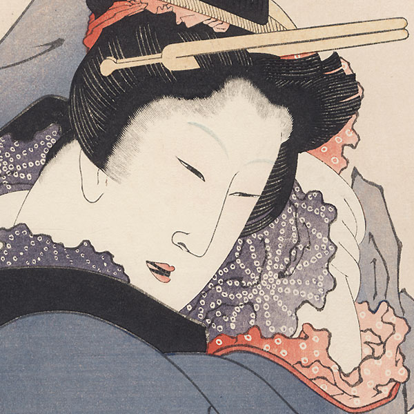 Pillow Print by Hokusai (1760 - 1849)