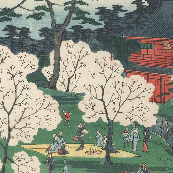 Toeizan Temple by Hiroshige II (1826 - 1869)