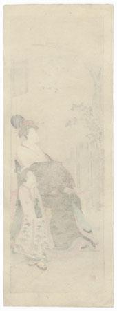 Wisteria Maiden  by Edo era artist (not read)