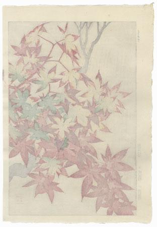 Maples Leaves by Kawarazaki Shodo (1889 - 1973)
