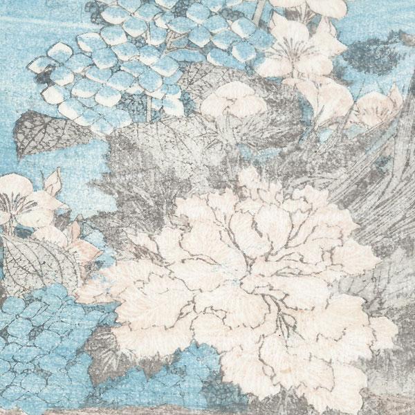 Basket of Flowers by Hokusai (1760 - 1849)