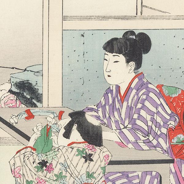 Making Dolls by Miyagawa Shuntei (1873 - 1914)