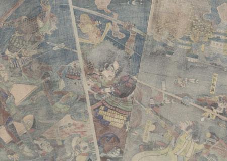 The Great Battle of Kanegasaki, 1864 by Kunitsuna (1805 - 1868)
