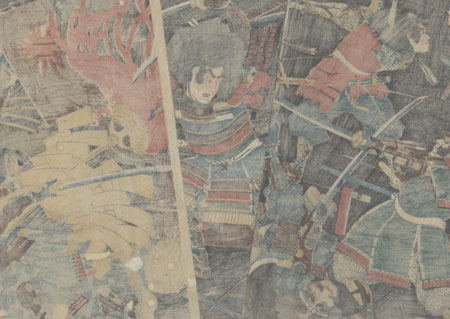 Battle at Hagashima, Ise Province, 1860 by Yoshitora (active circa 1840 - 1880)
