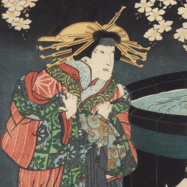 Sukeroku Fighting the Elderly Ikkyu by Toyokuni III/Kunisada (1786 - 1864)