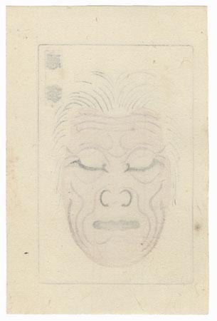 Kumadori Kabuki Makeup, 1915 by Taisho era artist (unsigned)