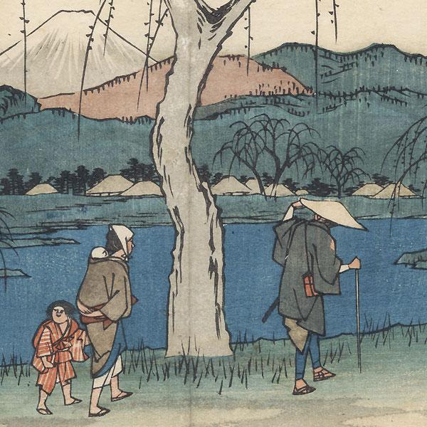 Goyu: Motono Plain on the Old Road, 1847 - 1852 by Hiroshige (1797 - 1858)