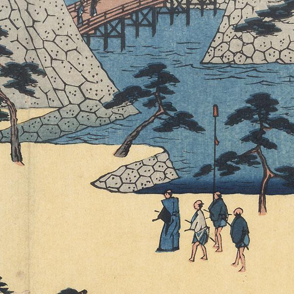 Kameyama, 1847 - 1852 by Hiroshige (1797 - 1858)