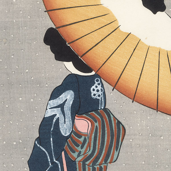Beauty in the Snow by Hiroshige IV (active circa 1920s - 1930s)