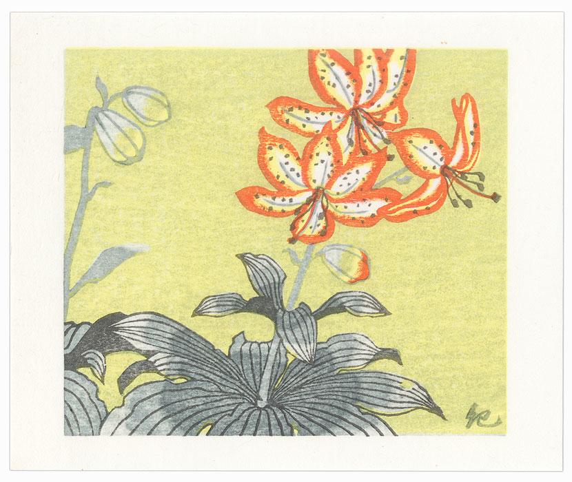 Lilies, 1986 by Kieko Tsurusawa (born 1942)
