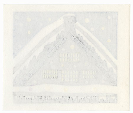 Snowy Rooftop, 1991 by Kozo Onishi (1920 - ?)