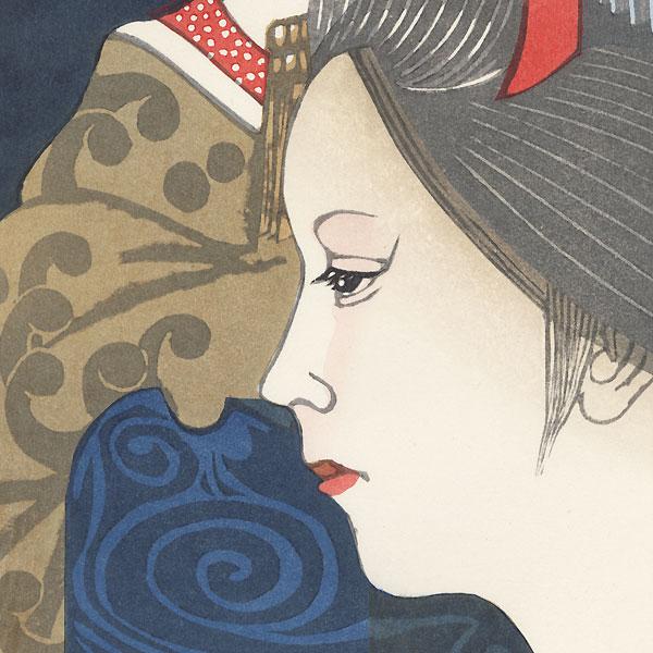 December: Invitation to Minami-za by Junichiro Sekino (1914 - 1988)