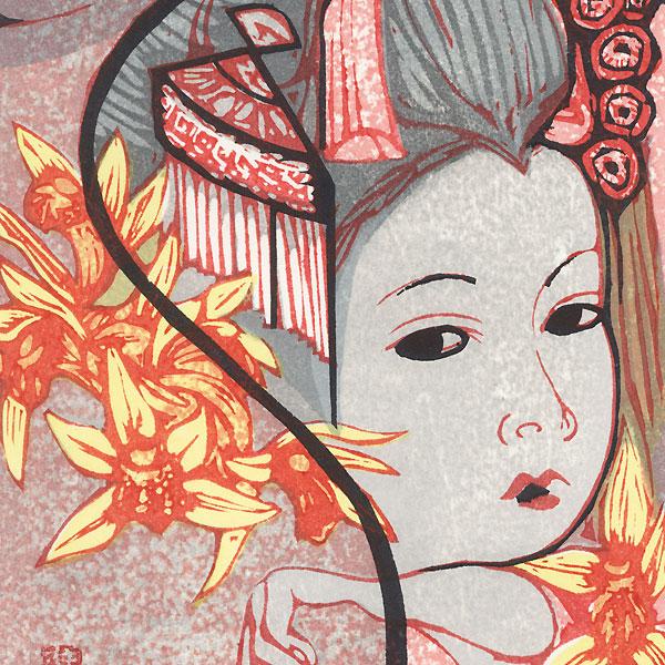 July: Lanterns by Junichiro Sekino (1914 - 1988)