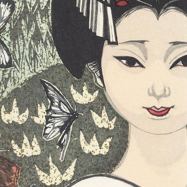 April: Butterflies by Junichiro Sekino (1914 - 1988)