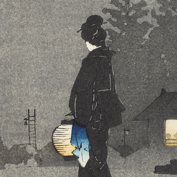 Evening Stroll by Hiroshige IV (active circa 1920s - 1930s)