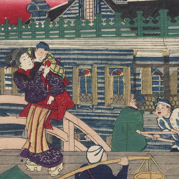 The Mitsui-gumi Building by Yoshitora (active circa 1840 - 1880)