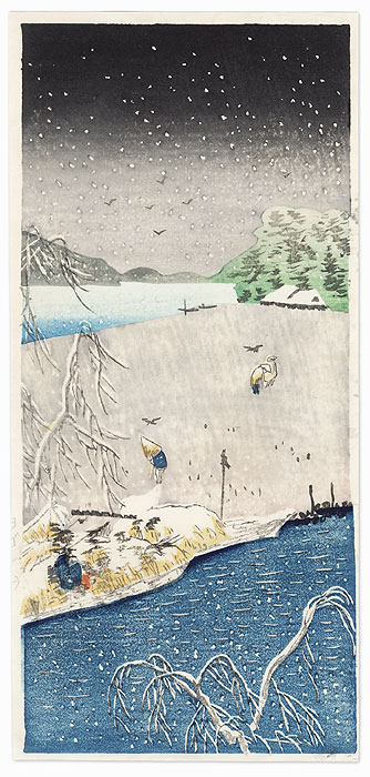 Winter View by Hiroshige IV (active circa 1920s - 1930s)