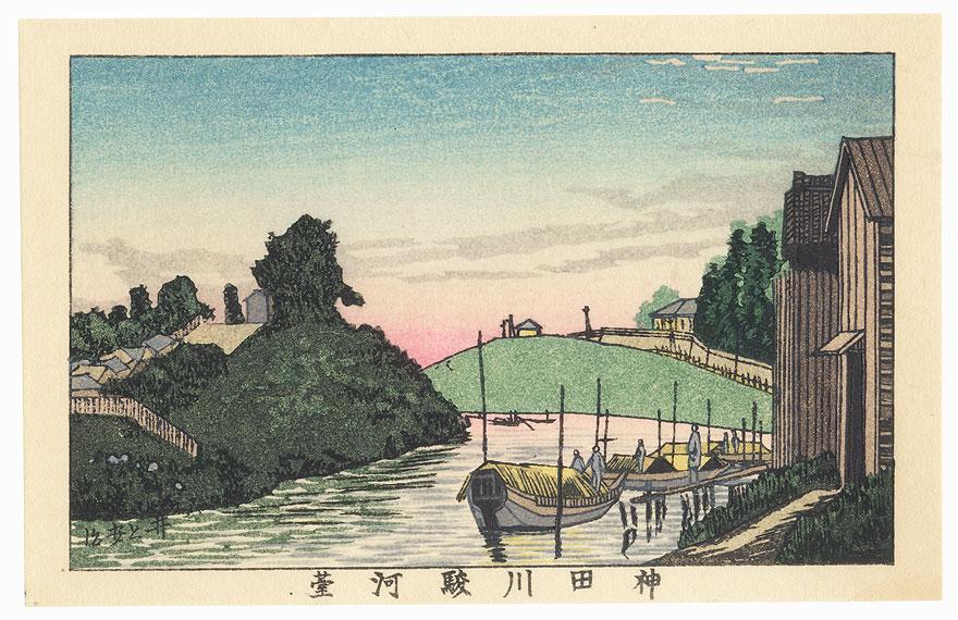 Kandagawa River and Surugadai by Yasuji Inoue (1864 - 1889)