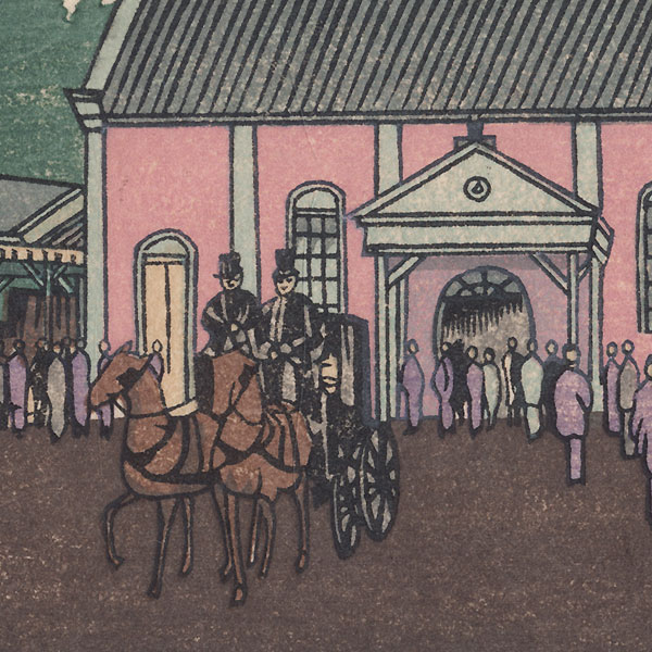 Ueno Station by Yasuji Inoue (1864 - 1889)
