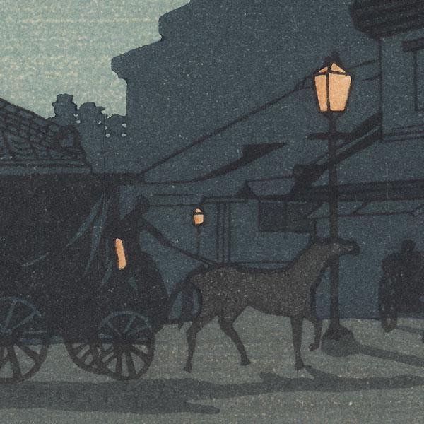 Night View of Surugacho by Yasuji Inoue (1864 - 1889)