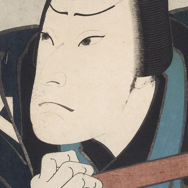 Frowning Man by Hirosada (active circa 1847 - 1863)