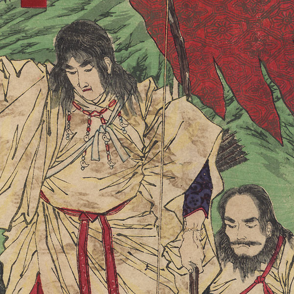 Yamato Takeru no Mikoto by Yoshitoshi (1839 - 1892)