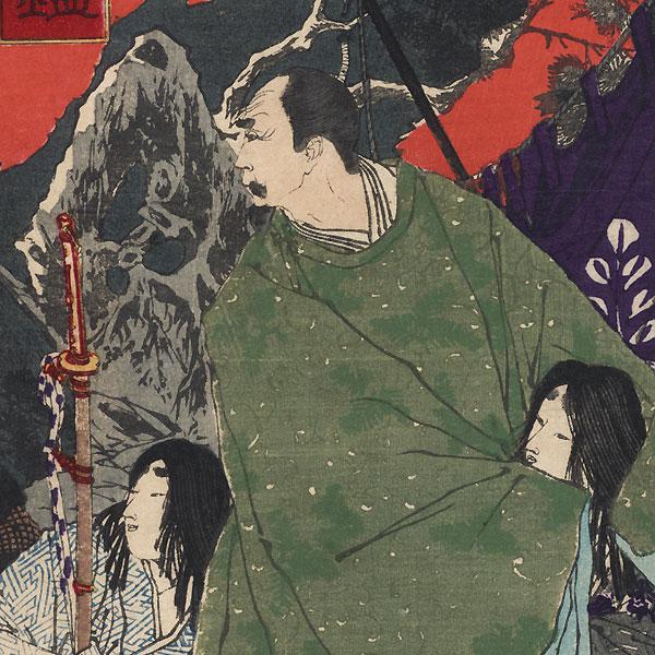 Toyotomi Hideyoshi and Kato Kiyomasa by Yoshitoshi (1839 - 1892)