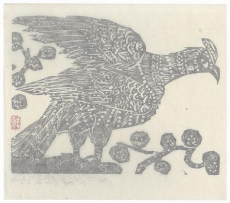 Hawk by Munakata (1903 - 1975)