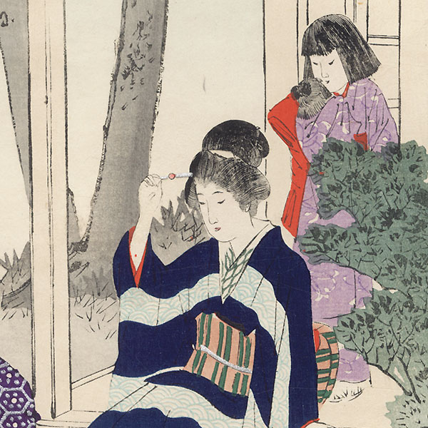 Garden by Miyagawa Shuntei (1873 - 1914)