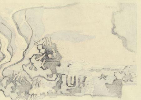 The Nakagusuku Ancient Castle by Miyata Saburo (1924 - 2013)