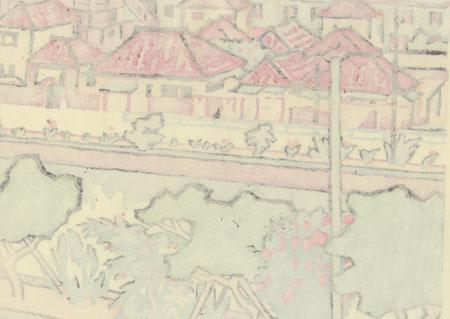 The Bank of the Kumoji River by Miyata Saburo (1924 - 2013)