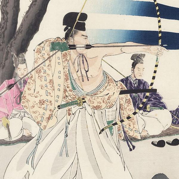 Start of an Archery Tournament by Chikanobu (1838 - 1912)