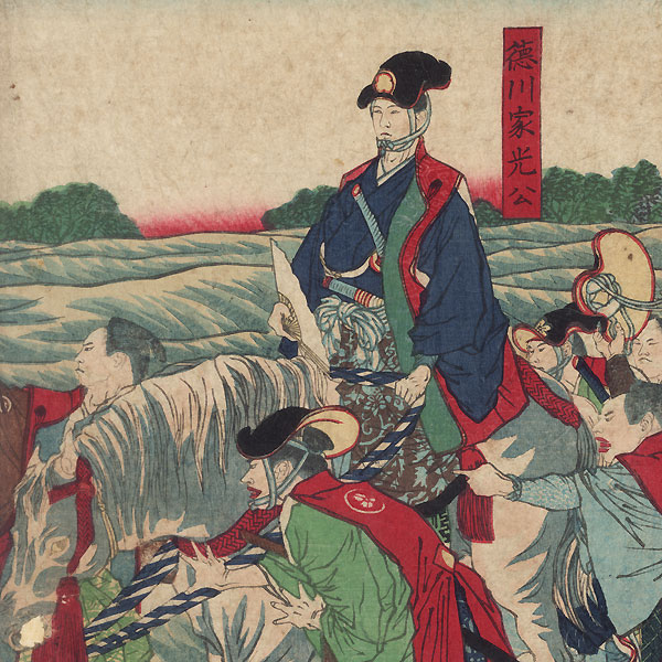 View of the Glory of Abe Tadaaki in the Sumida River by Yoshitoshi (1839 - 1892)