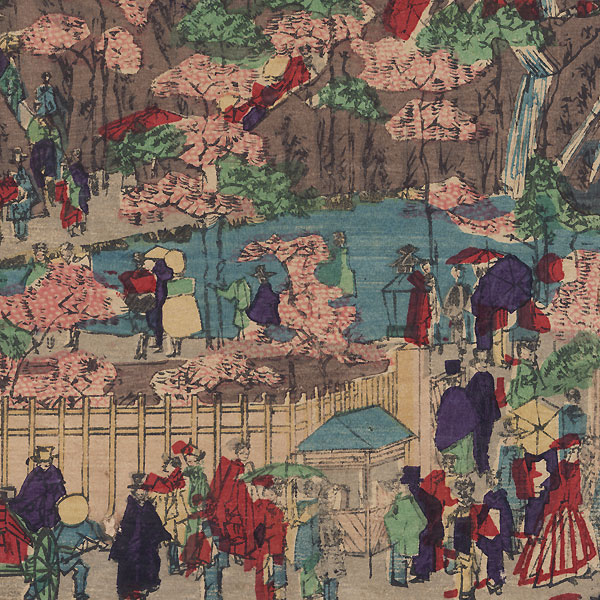 Tokyo Mountain and Park by Meiji era artist (unsigned)