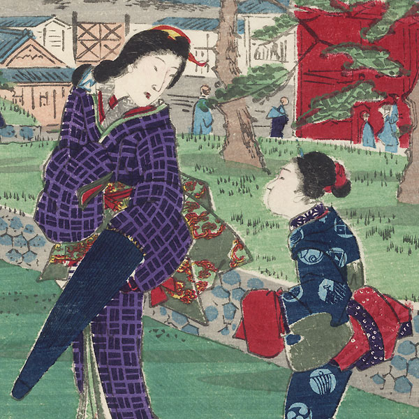 Zojoji Temple by Toyokuni III/Kunisada (1786 - 1864) and Hiroshige II (1826 - 1869)