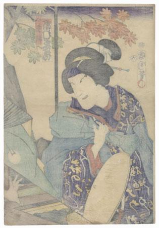 Ichimura Kakitsu as Yaegiri, 1867 by Kunichika (1835 - 1900)